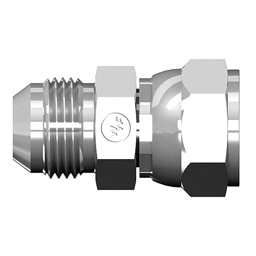 Female swivel to male jic world wide fittings
